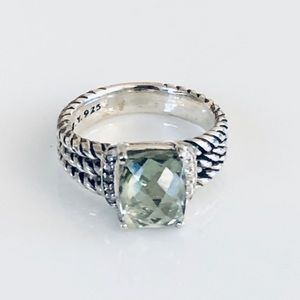 David Yurman Petite Wheaton 7 Prasiolite Ring